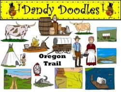 Us History clipart oregon trail