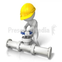 Pipeline clipart valve