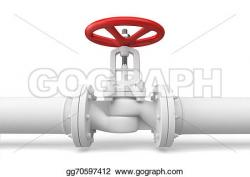 Pipeline clipart water valve