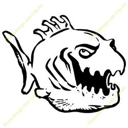 Piranha clipart angry