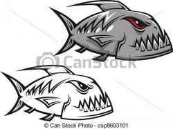 Piranha clipart fishing