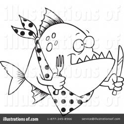 Piranha clipart hungry