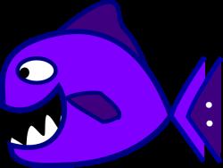 Piranha clipart purple fish