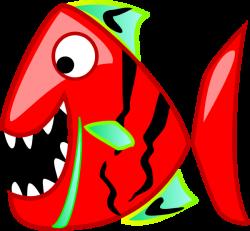 Piranha clipart red
