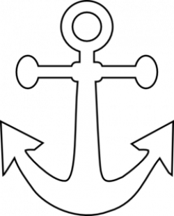 Anchor clipart black and white