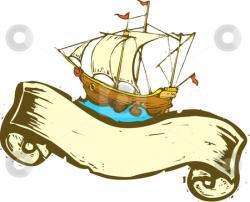 Sailing Ship clipart treasure map
