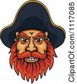 Pirate clipart bearded