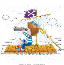 Raft clipart pirate