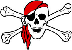 Pirate clipart bone