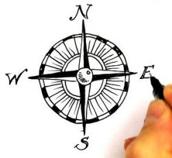 Treasure clipart compass