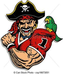 Pirate clipart football player