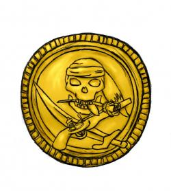 Pirate clipart gold coin