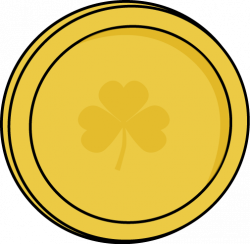 Irish clipart gold coin
