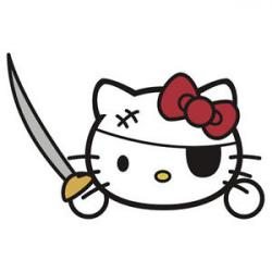 Pirate clipart hello kitty