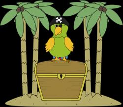 Eiland clipart treasure chest