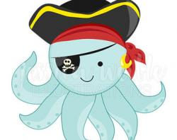 Pirate clipart octopus