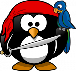 Pirate clipart penguin