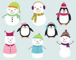 Snowman clipart penguin
