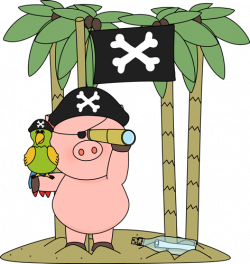 Pirate clipart pig