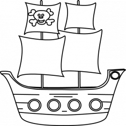 Pirate clipart pirate boat