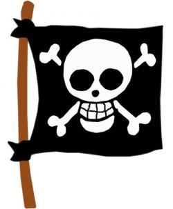 Pirate clipart pirate flag