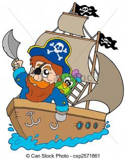 Pirate clipart sailing