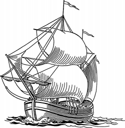 Caravel clipart old boat