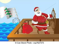 Pirate clipart santa