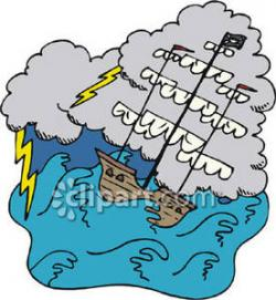 Sailing Ship clipart sea storm