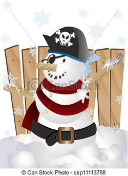 Pirate clipart snowman