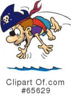 Pirate clipart swimming