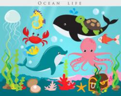 The Sea clipart ocean scene