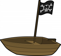 Pirate clipart wood boat