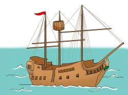 Sailing Ship clipart wooden ship