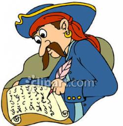 Pirate clipart writing