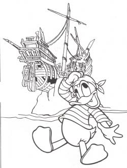 Pirates Of The Caribbean clipart donald duck