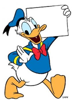 Donald Duck clipart old fashioned