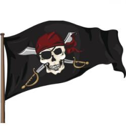 Pirates Of The Caribbean clipart pirate flag