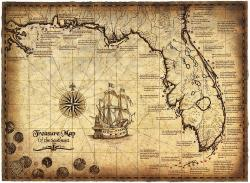 Pirates Of The Caribbean clipart pirate map