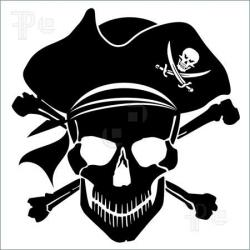 Pirates Of The Caribbean clipart skull and crossbones