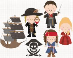 Pirates Of The Caribbean clipart stitch
