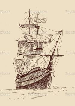 Sailing Ship clipart colonial america