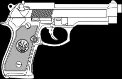 Pistol clipart 30 mm
