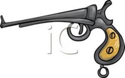 Pistol clipart old fashioned