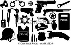 Pistol clipart police equipment