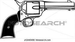 Pistol clipart western gun