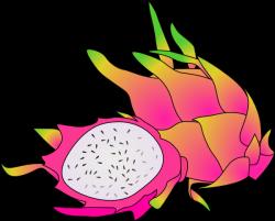Pitaya clipart cartoon