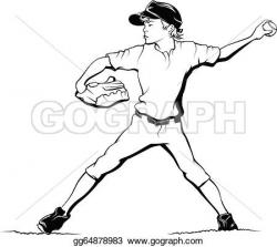 Pitcher clipart drawing