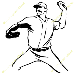 Pitcher clipart pitch