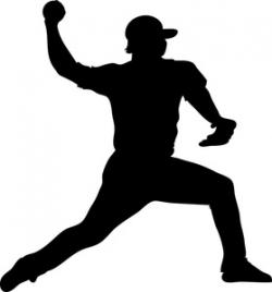 Pitcher clipart silhouette